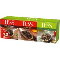 Чай TESS Асорті № 2 Goldberry / Sunrise / Flirt 30 шт (10 шт х 1,5 г + 10 шт х 1,8 г + 10 шт х 1,5 г
