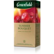 Чай Greenfield Summer Bouquet 25 шт х 2 г трав'яний малина, шипшина і гібіскус
