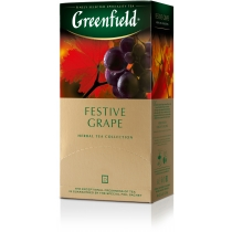 Чай Greenfield Festive Grape 25 шт х 2 г травяной с виноградом, гибискусом, шиповником