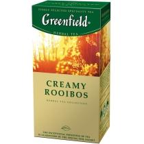 Чай Greenfield Creamy Rooibos 25 шт х 1,5 г трав'яний зі смаком апельсина і ванілі