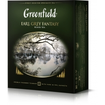 Чай Greenfield Earl Grey Fantasy 100 шт х 2 г черный кенийский с бергамотом + васильки + цитрусы