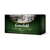 Чай Greenfield Earl Grey Fantasy 25 шт х 2 г чорний кенійський з бергамотом + волошки + цитруси