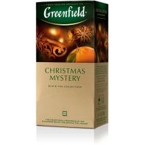 Чай Greenfield Christmas Mystery 25 шт х 1,5 г черный индийский с пряностями и ароматом цитрусовых