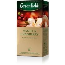 Чай Greenfield Vanilla Cranberry 25 шт х 1,5 г чорний індійський з ваніллю, журавлиною, ананасом