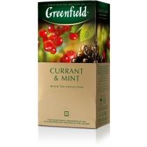Чай Greenfield Currant & Mint 25 шт х 1,8 г черный индийский с красной, белой и черной смородины