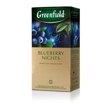 Чай Greenfield Blueberry Nights 25 шт х 1,5 г черный индийский со вкусом черники и сливок