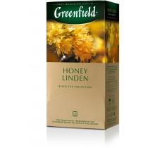 Чай Greenfield Honey Linden 25 шт х 1,5 г черный индийский с цветками и листьями липы