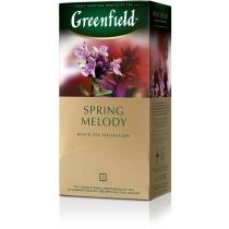 Чай Greenfield Spring Melody 25 шт х 1,5 г чорний індійський лист чорної смородини чебрець м'ята