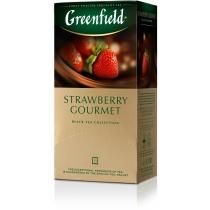 Чай Greenfield Strawberry Gourmet 25 шт х 1,5 г черный кенийский с клубникой и шоколадом