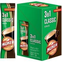 Кофе растворимый Жокей 3 в 1 Classic 10 шт х 12 г