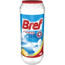 Засіб чистячий універсал: порошок BREF 500 г з Активним хлором, Лимон