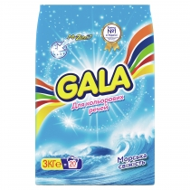 Пральний порошок GALA автомат Морська свiжiсть для кольорових речей 3 кг