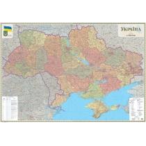 Карта. Украіна. Політико-адміністративна 272х193 см