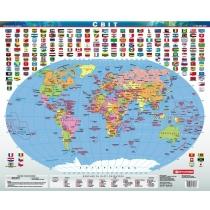 Покриття настільне. Політична карта світу 53х44 см