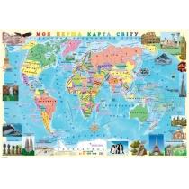 Карта. Моя первая карта мира 100х70 см