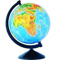 Глобус физический лакированный без подсветки, пластиковая подставка