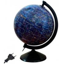 Глобус звездного неба лакированный с подсветкой,пластиковая подставка