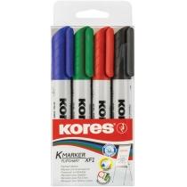 Набор маркеров для флипчартов KORES XF1 1-3 мм, 4 цв. в блистере