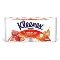 Туалетная бумага 3 слоя Kleenex Cottonelle Aroma Care Клубника 8 рулонов