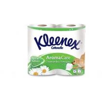 Туалетная бумага 3 слоя Kleenex Cottonelle Aroma Care Ромашка 4 рулона