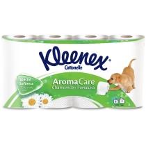 Туалетная бумага 3 слоя Kleenex Cottonelle Aroma Care Ромашка 8 рулонов