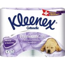 Туалетная бумага 4 слоя Kleenex Premium Care 4 рулона
