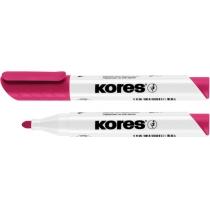 Маркер для білих дошок KORES 1-3 мм, рожевий