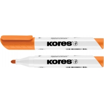 Маркер для белых досок KORES 1-3 мм, оранжевый