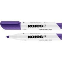 Маркер для белых досок KORES 1-3 мм, фиолетовый