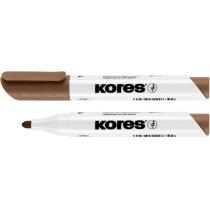 Маркер для белых досок KORES 1-3 мм, коричневый