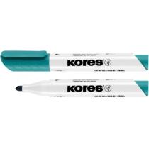 Маркер для білих дошок KORES 1-3 мм, бірюзовий