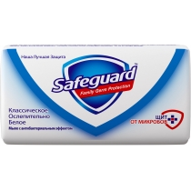 Мыло туалетное SAFEGUARD классическое белое 90 г