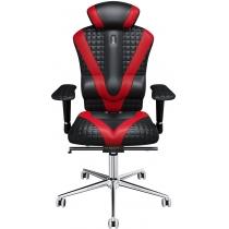 Крісло VICTORY екошкіра з прошивкою Quatro чорне з червоними вставками