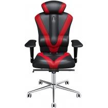 Крісло VICTORY екошкіра чорне з червоними вставками