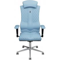 Крісло ELEGANCE екошкіра з індивідуальною прошивкою блакитне