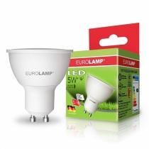 """Лампа светодиодная EUROLAMP  ЕКО серия """"D"""" SMD MR16 5W GU10 3000K"""