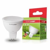 """Лампа светодиодная EUROLAMP  ЕКО серия """"D"""" SMD MR16 3W GU5.3 4000K"""