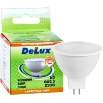 Лампа светодиодная DELUX JCDR 7Вт 6000K 220В GU5.3 холодний белый