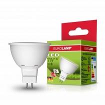 """Лампа светодиодная EUROLAMP  ЕКО серия """"D"""" SMD MR16 7W GU5.3 3000K"""