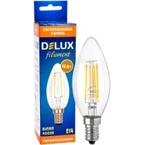 Лампа светодиодная DELUX BL37B 4 Вт 4000K 220В E14 filament белый