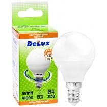 Лампа светодиодная DELUX BL50P 5 Вт 4100K 220В E14 белый