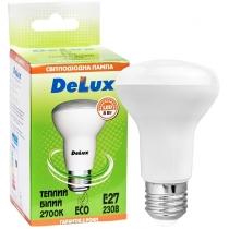 Лампа светодиодная DELUX FC1 8 Вт R63 2700K 220В E27 теплый белый