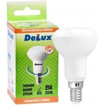 Лампа светодиодная DELUX FC1 6Вт R50 2700K 220В E14 теплый белый