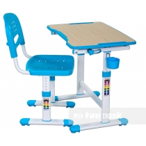 Комплект парта + стілець трансформери FUNDESK Piccolino II Blue