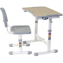 Комплект парта + стілець трансформери FUNDESK Piccolino II Grey