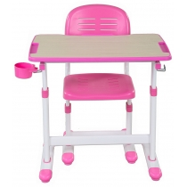 Комплект парта + стілець трансформери FUNDESK Piccolino II Pink
