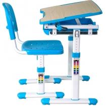 Комплект парта + стул трансформеры FUNDESK Piccolino Blue