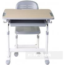 Комплект парта + стул трансформеры FUNDESK Piccolino Grey