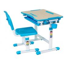 Комплект парта + стілець трансформери FUNDESK Bambino Blue