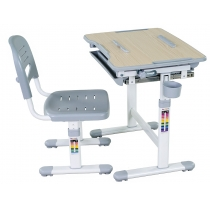 Комплект парта + стілець трансформери FUNDESK Bambino Grey